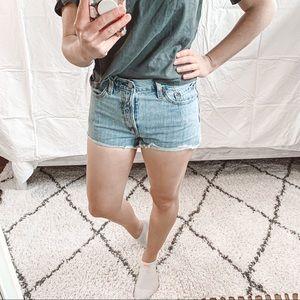 Levi's 501 High Waist Jean Shorts